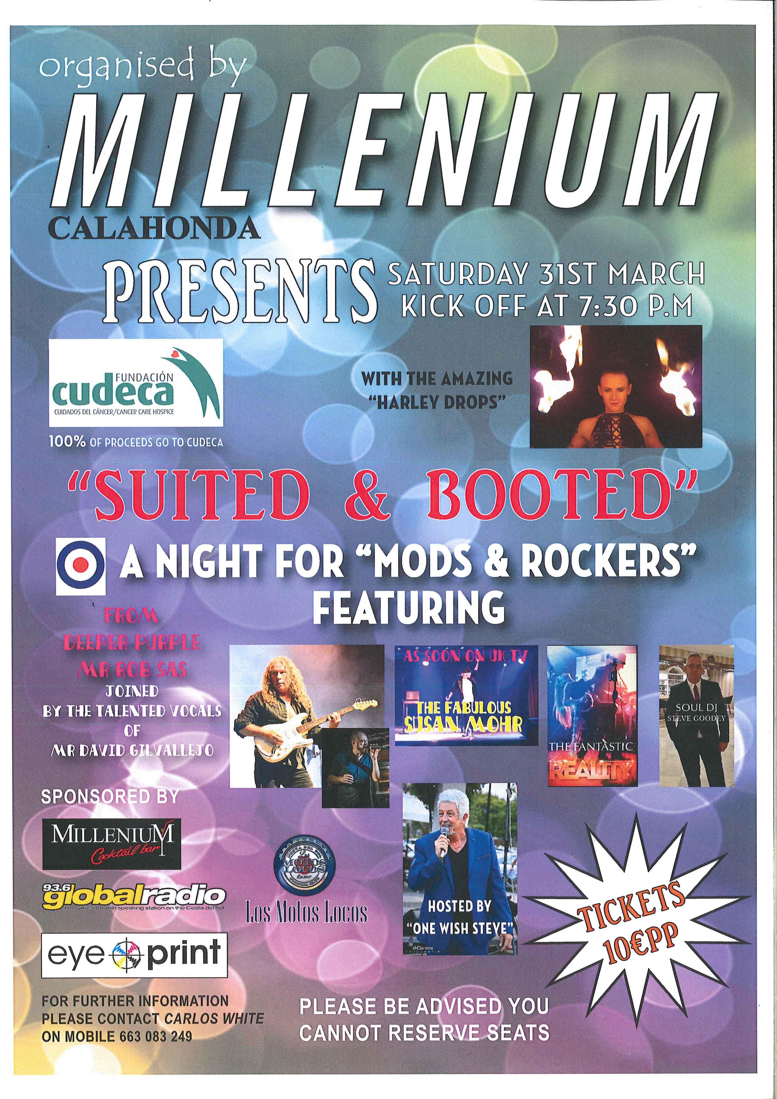 Noche solidaria de Rock en Millenium Bar