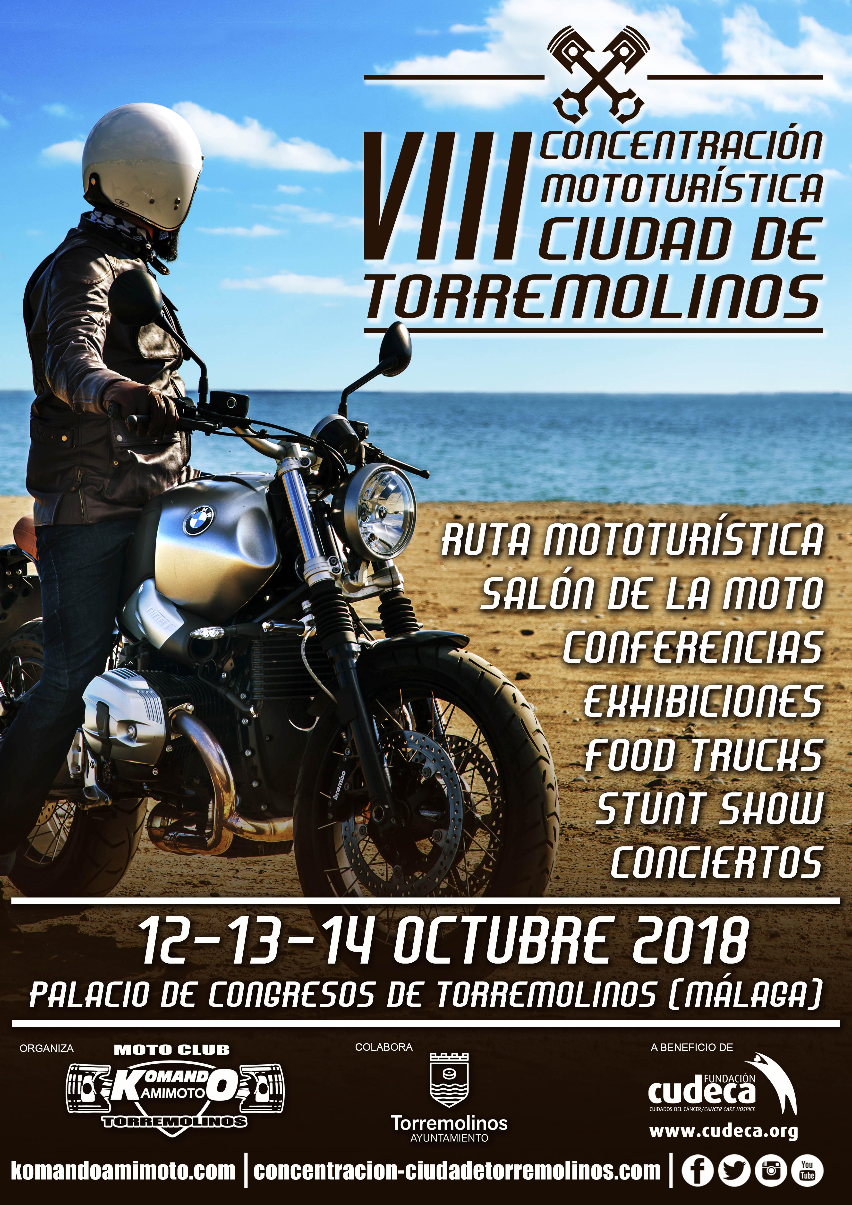 VIII Concentración Mototuristica Ciudad de Torremolinos a beneficio de CUDECA