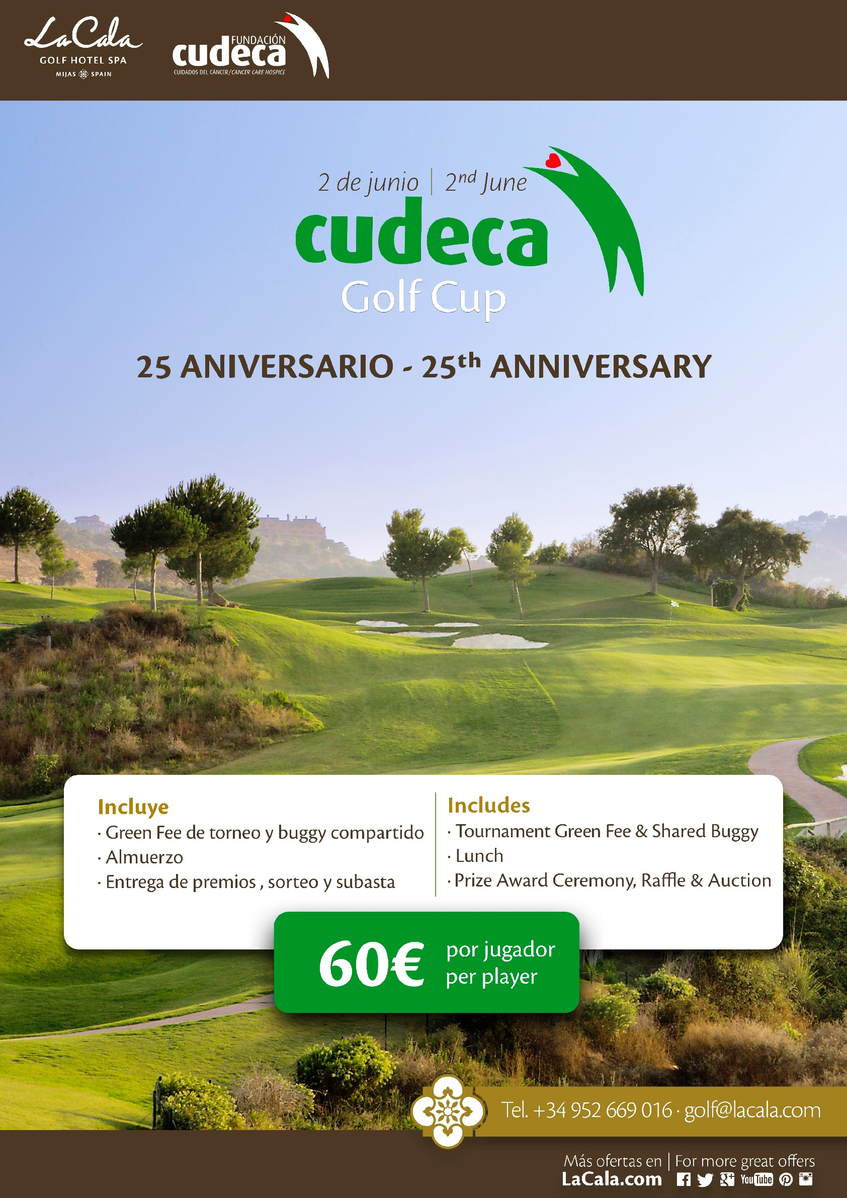 XXV CUDECA Golf Cup Anniversary at La Cala Resort