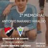 El II Memorial Antonio Naranjo se celebrará el 8 de agosto