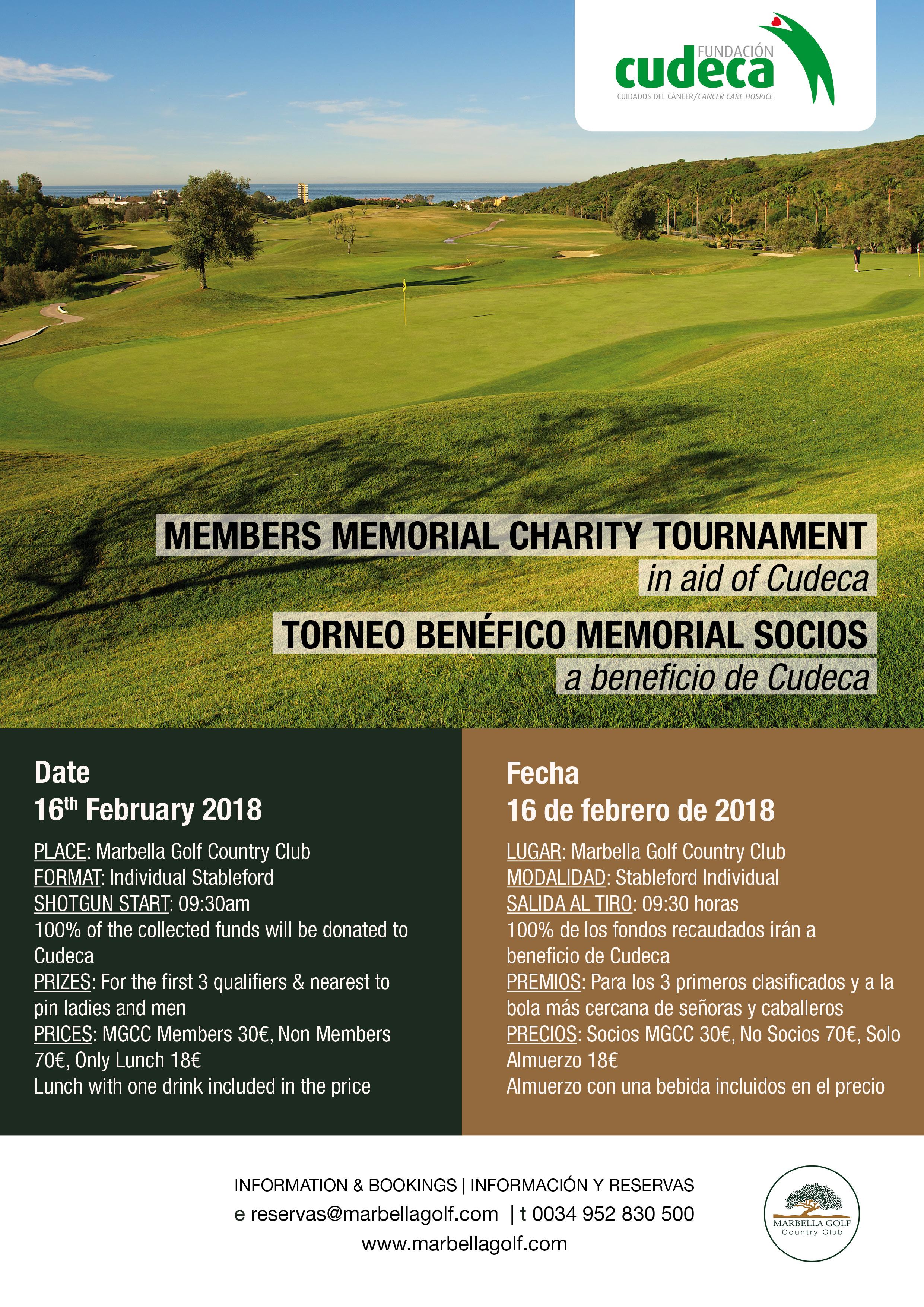 Members Memorial Charity Tournament – Marbella Golf & Country Club
