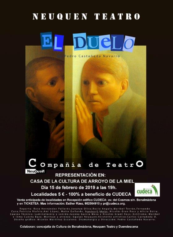 "NEUQUEN TEATRO will perform their play ""El Duelo"" for CUDECA (Spanish speaking performance)"