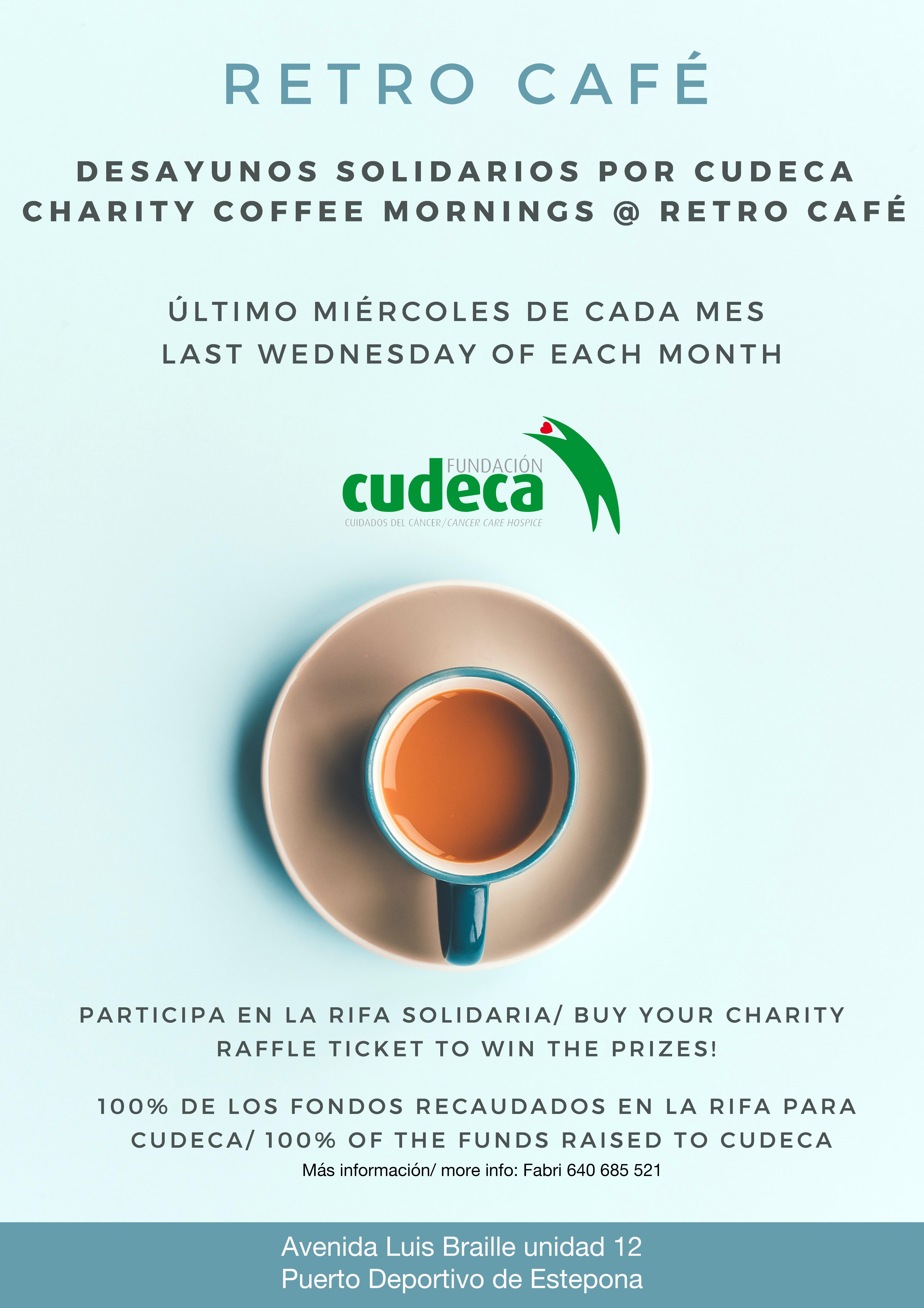 ¡Desayunos Solidarios en Retro Café por CUDECA!