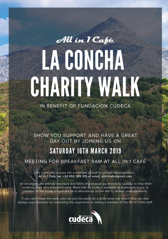 """¡Apúntate a la subida benéfica a """"La Concha"""" en Marbella organizada por All in 1 Café  para ayudarnos!"""