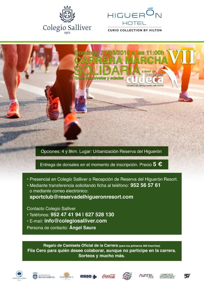 ¡VII Carrera Marcha Solidaria Colegio Salliver- Reserva del Higuerón  para ayudarnos!