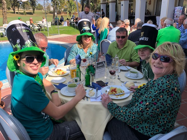 Great fundraising at the St Patrick´s Day with the Goldies at the Tamisa Golf Hotel!