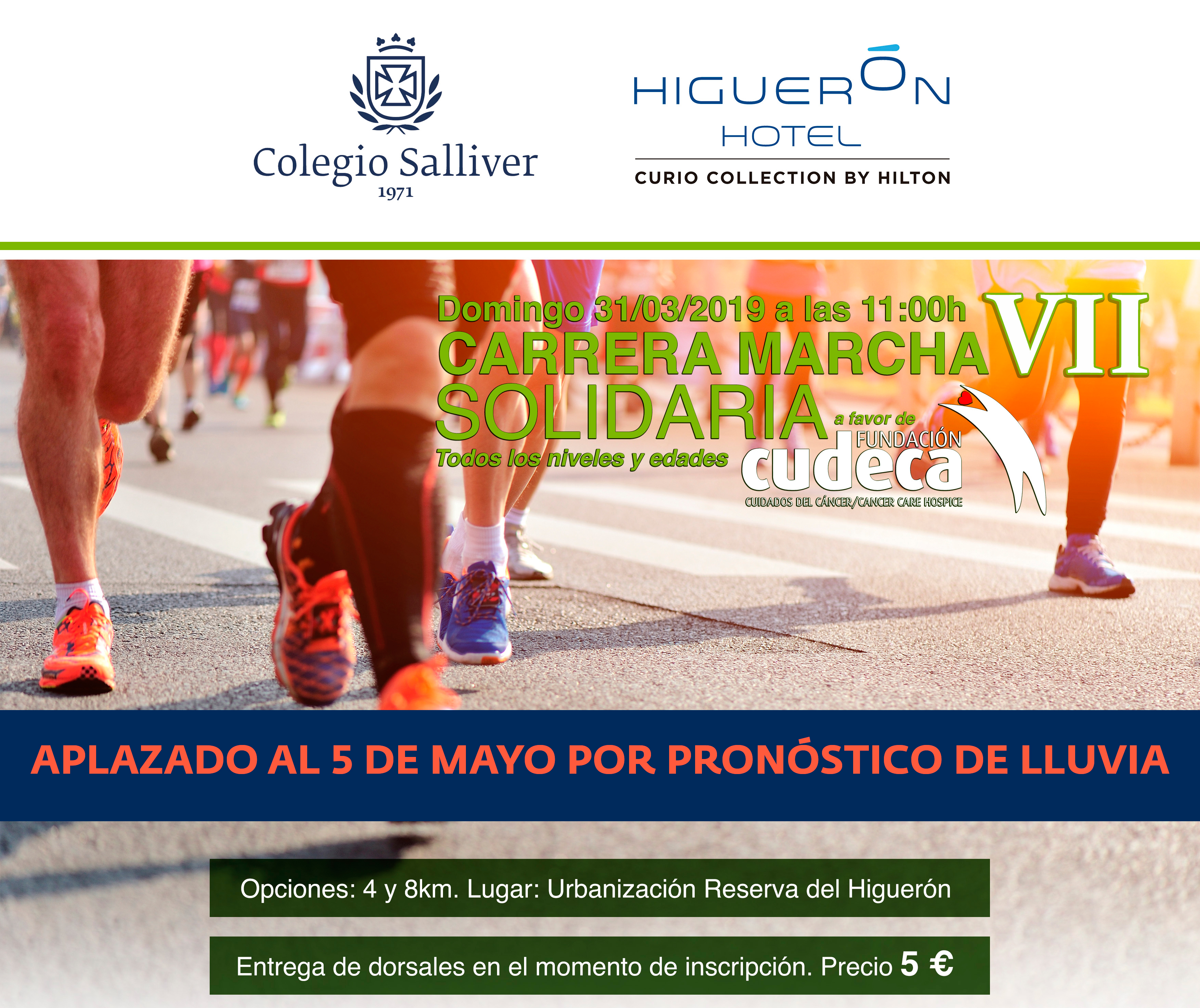 VII Carrera Marcha Solidaria Colegio Salliver- Reserva del Higuerón  a favor de CUDECA