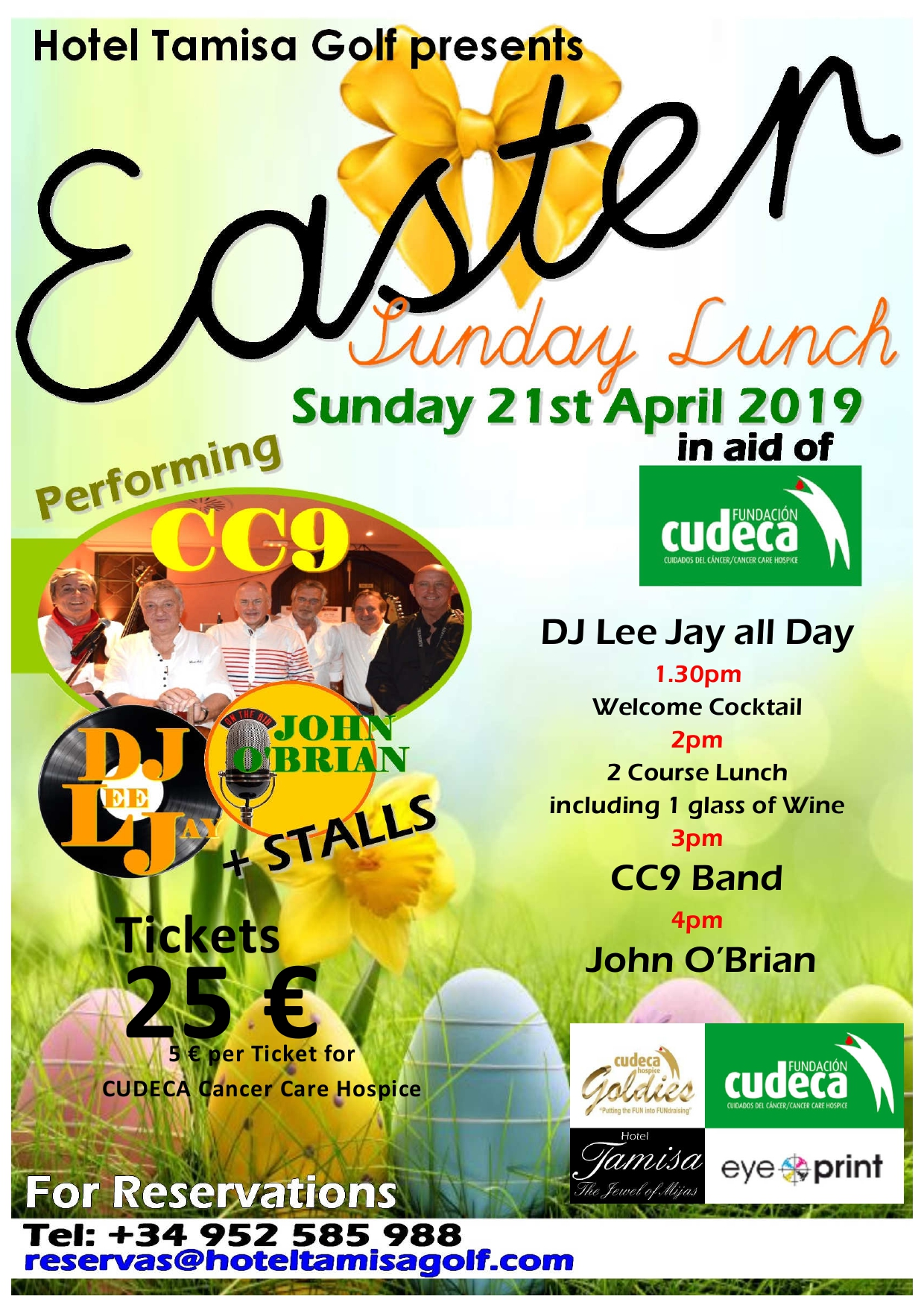 'Egg'stra Special Easter Sunday with the Goldies at Tamisa Golf Hotel!