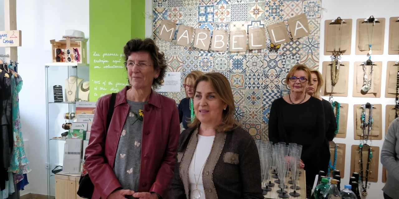Re-inauguration of our Charity Shop in Marbella