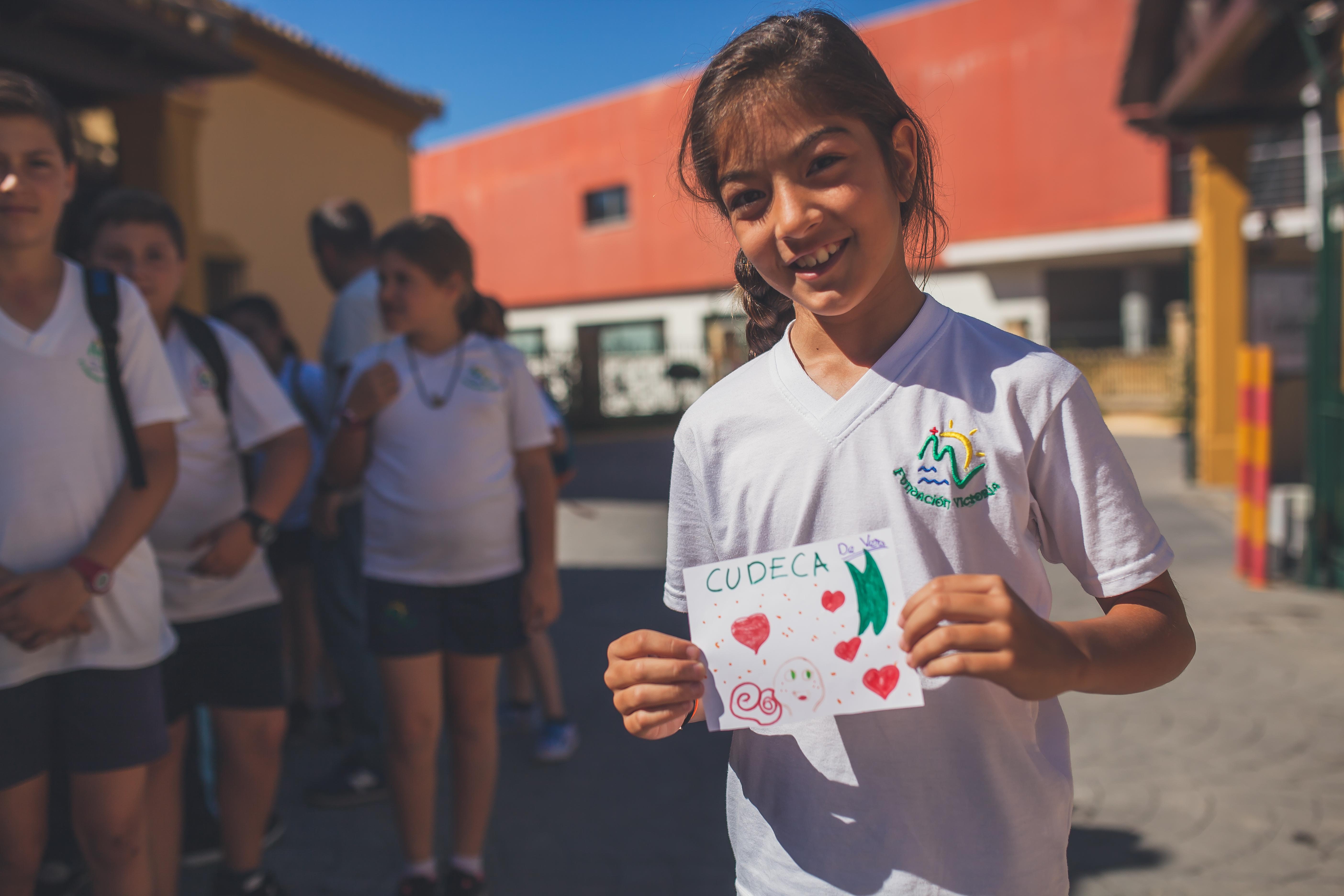 Visit of the school Nuestra Señora de Lourdes, El Valdés