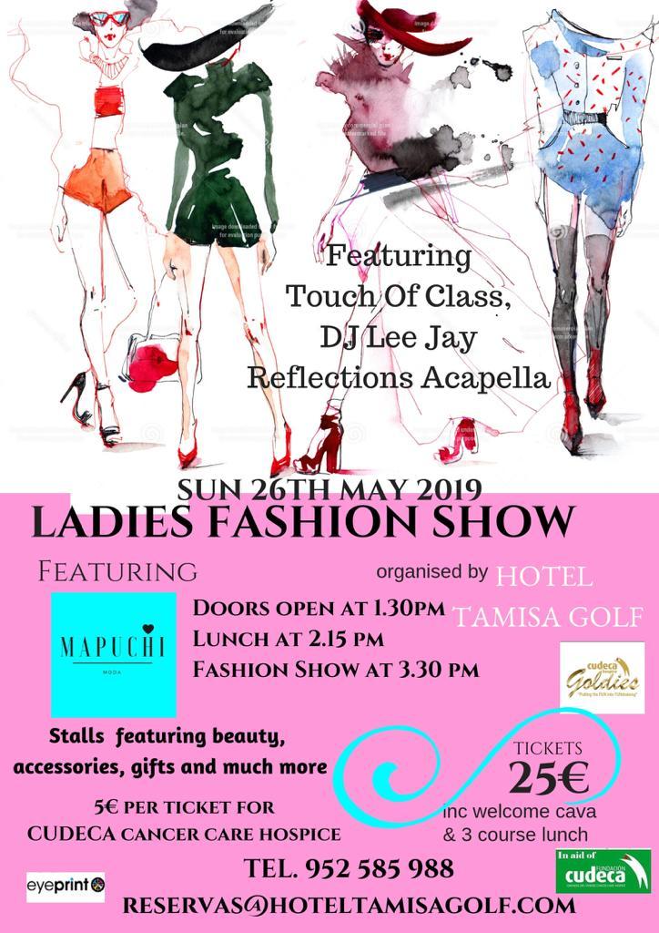 ¡Celebra el Tamisa Fashion Show con las Cudeca Goldies  en Tamisa Golf Hotel!