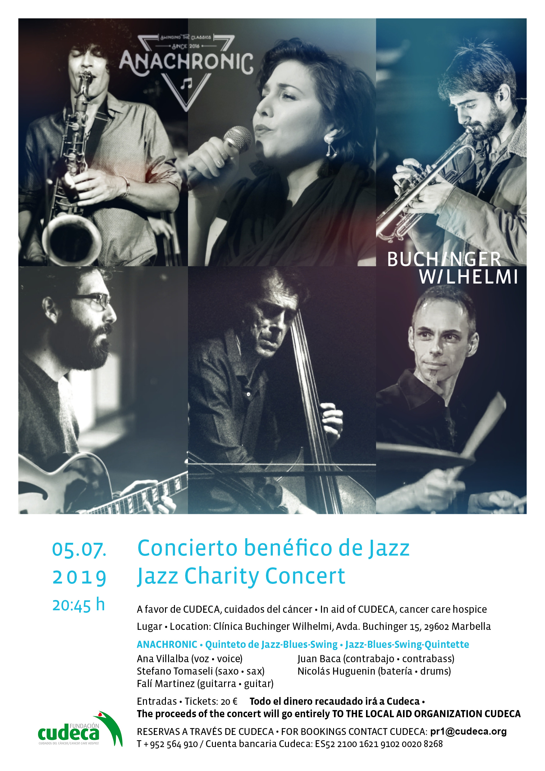 Charity Jazz Concert for CUDECA  at the Buchinger Wilhelmil Clinic Gardens