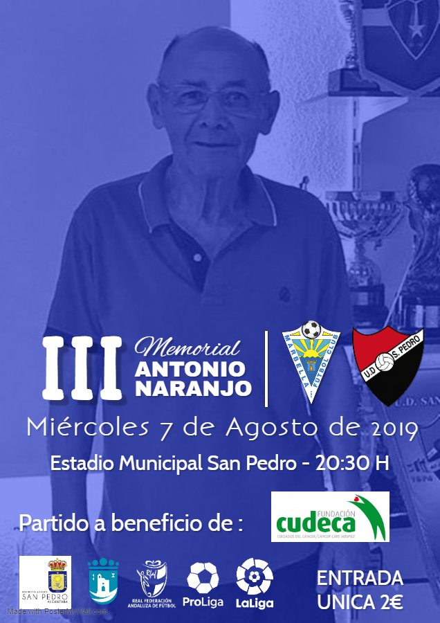 "Third ""Antonio Naranjo""Memorial football Match in aid of Cudeca"