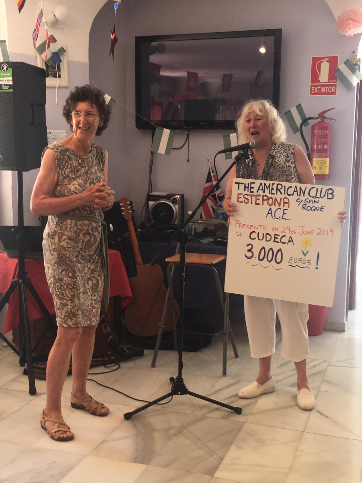 Donation from American Club of Estepona