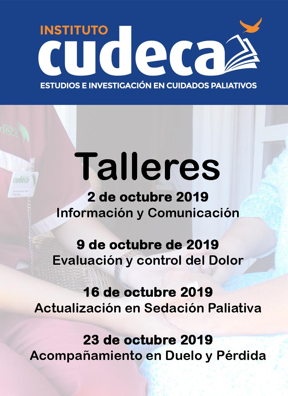 Octubre: mes de talleres en cuidados paliativos