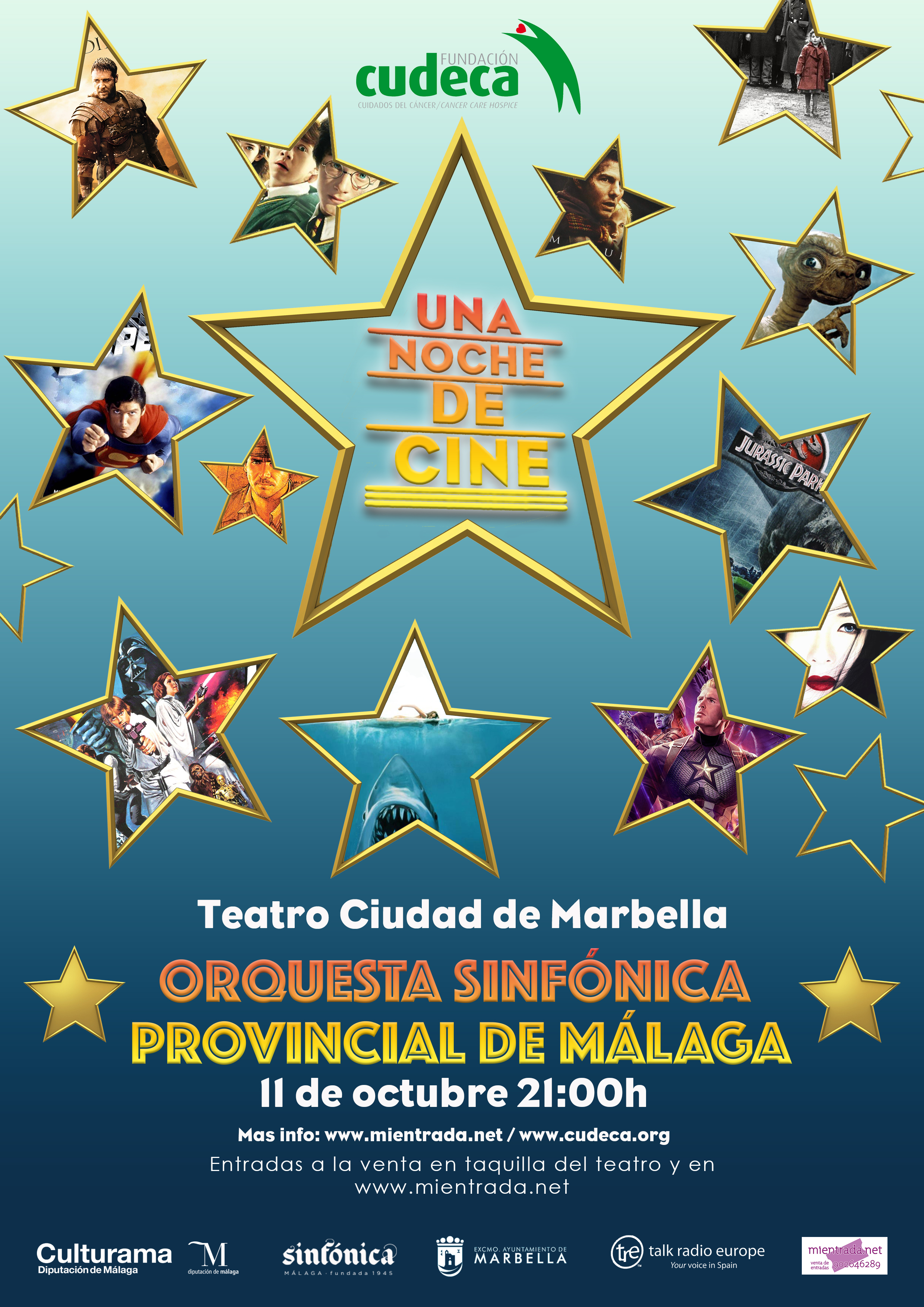 """A night at the Movies""  With the Malaga Symphony Orchestra in Marbella"