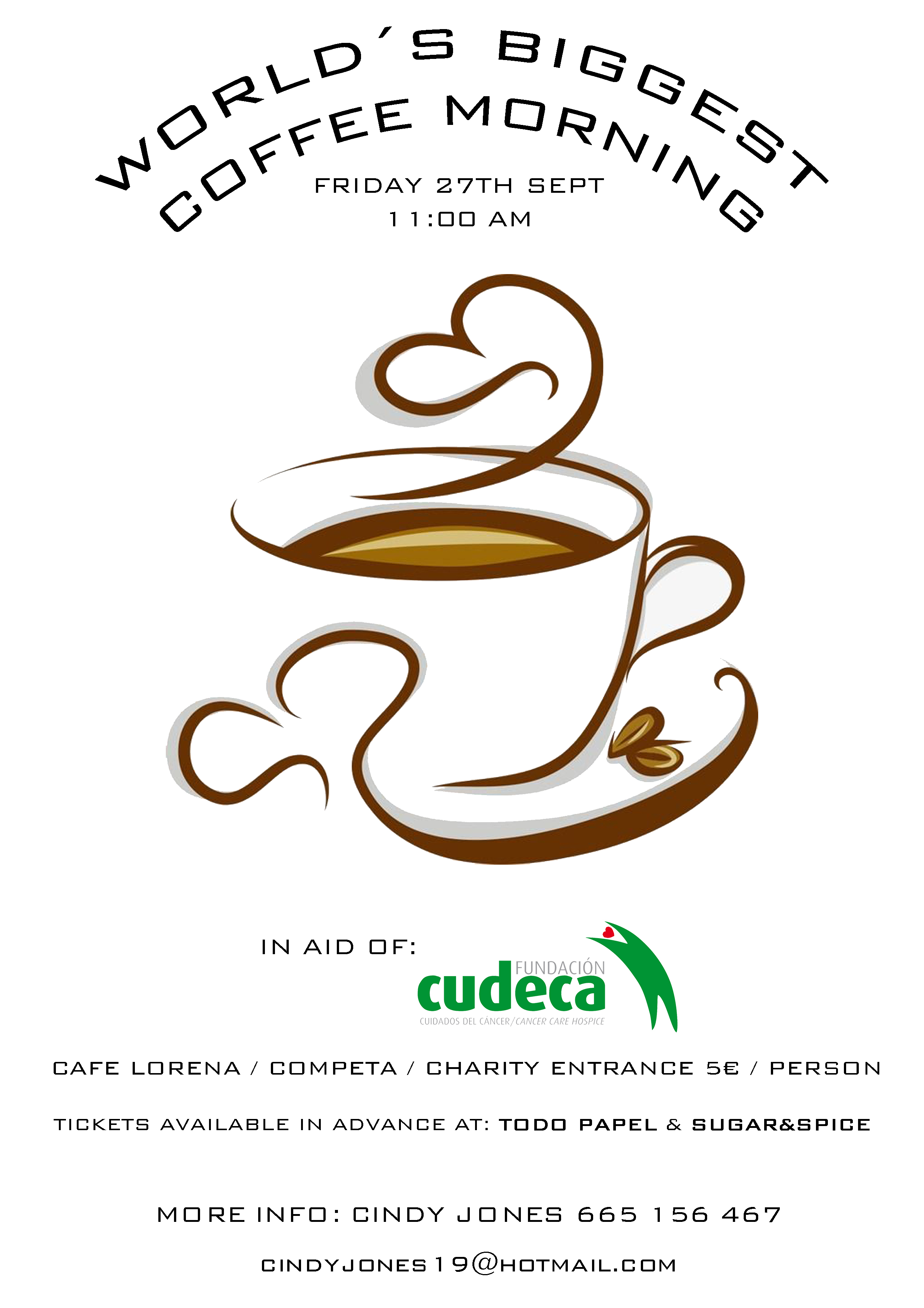 8th edition of the World´s Biggest Coffee Morning at Competa
