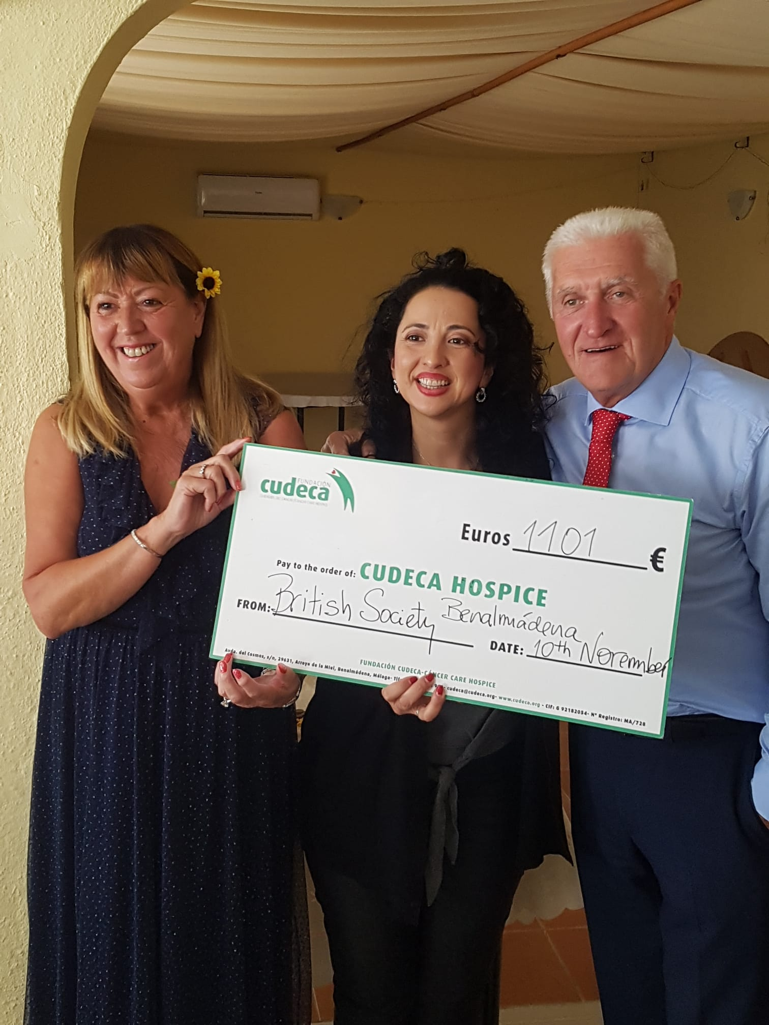 British Society of Benalmadena Donation