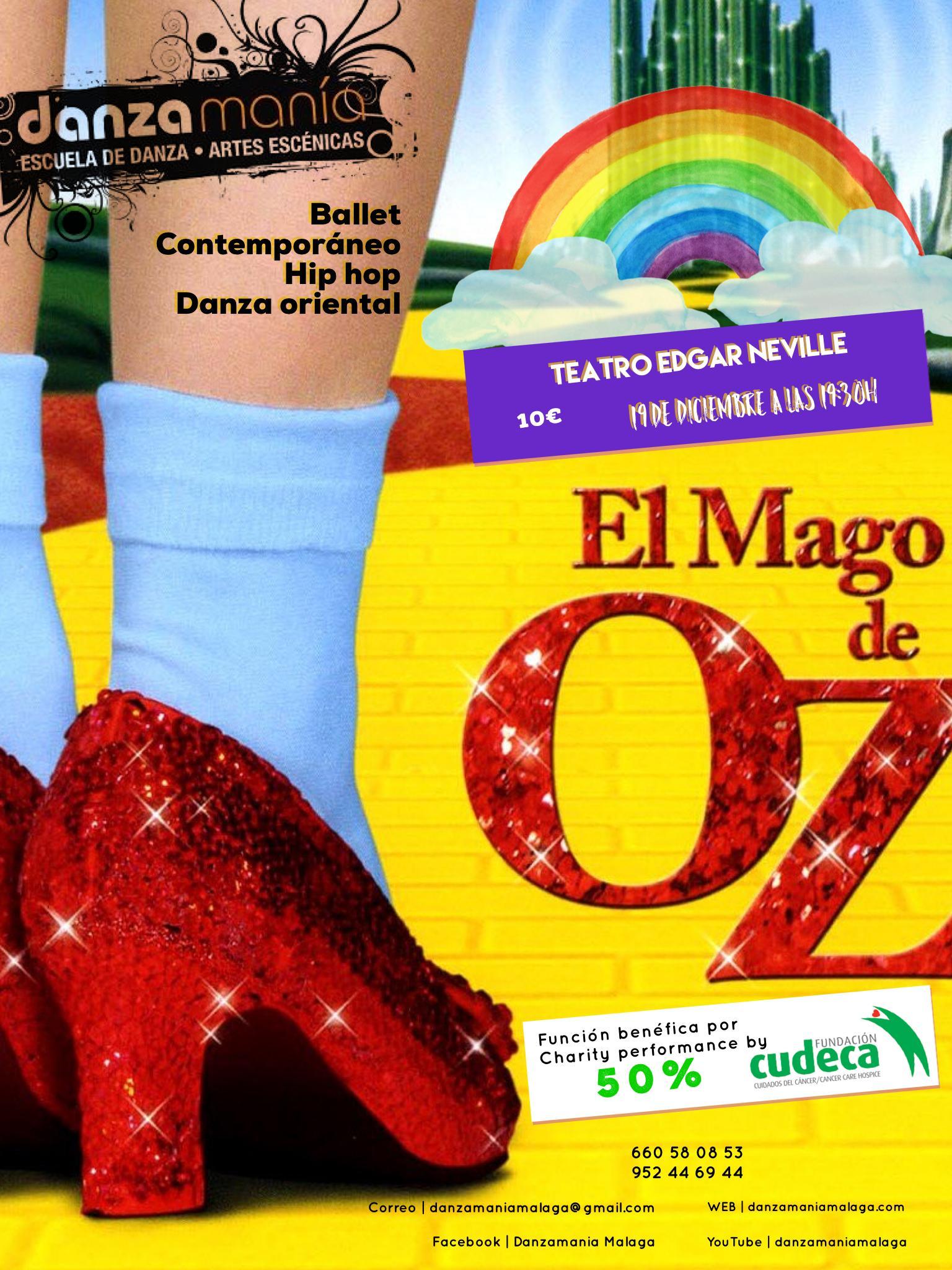 Musical El Mago de Oz, Danzamanía a beneficio de CUDECA