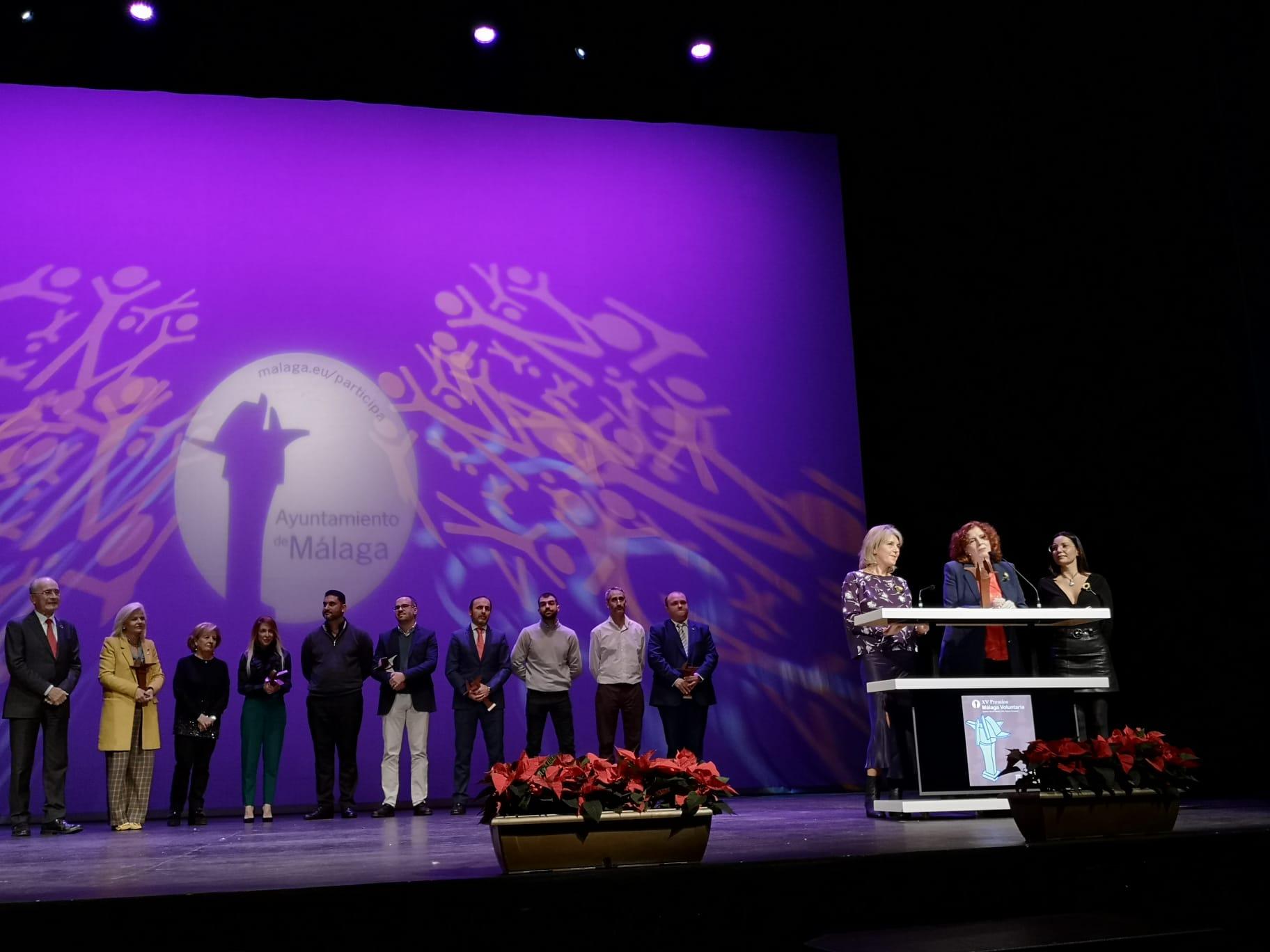 Cudeca y sus voluntarios premiados en «Premios Málaga Voluntaria»