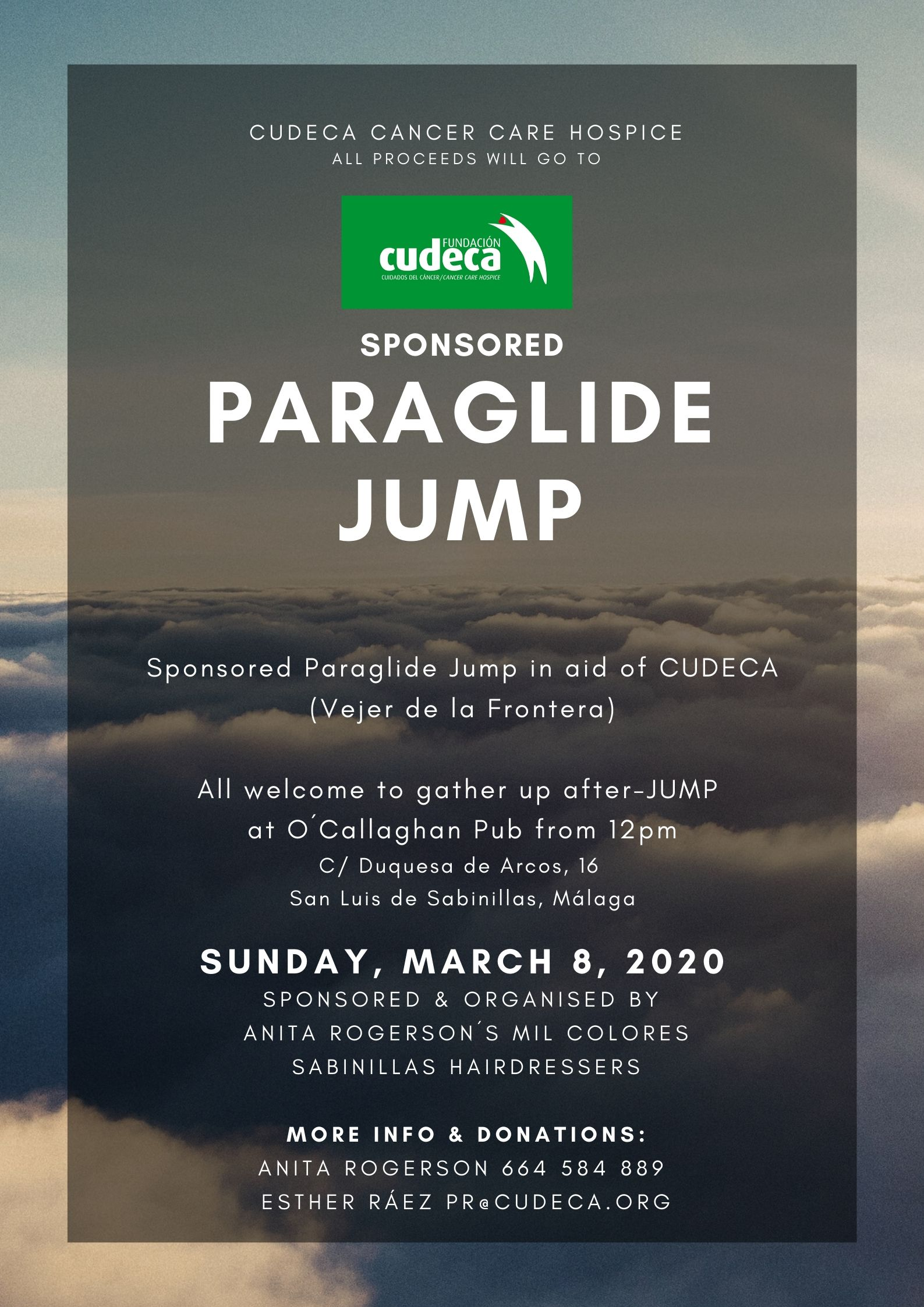 Anita Rogerson and 5 more to do a sponsored paraglide jump to help us!