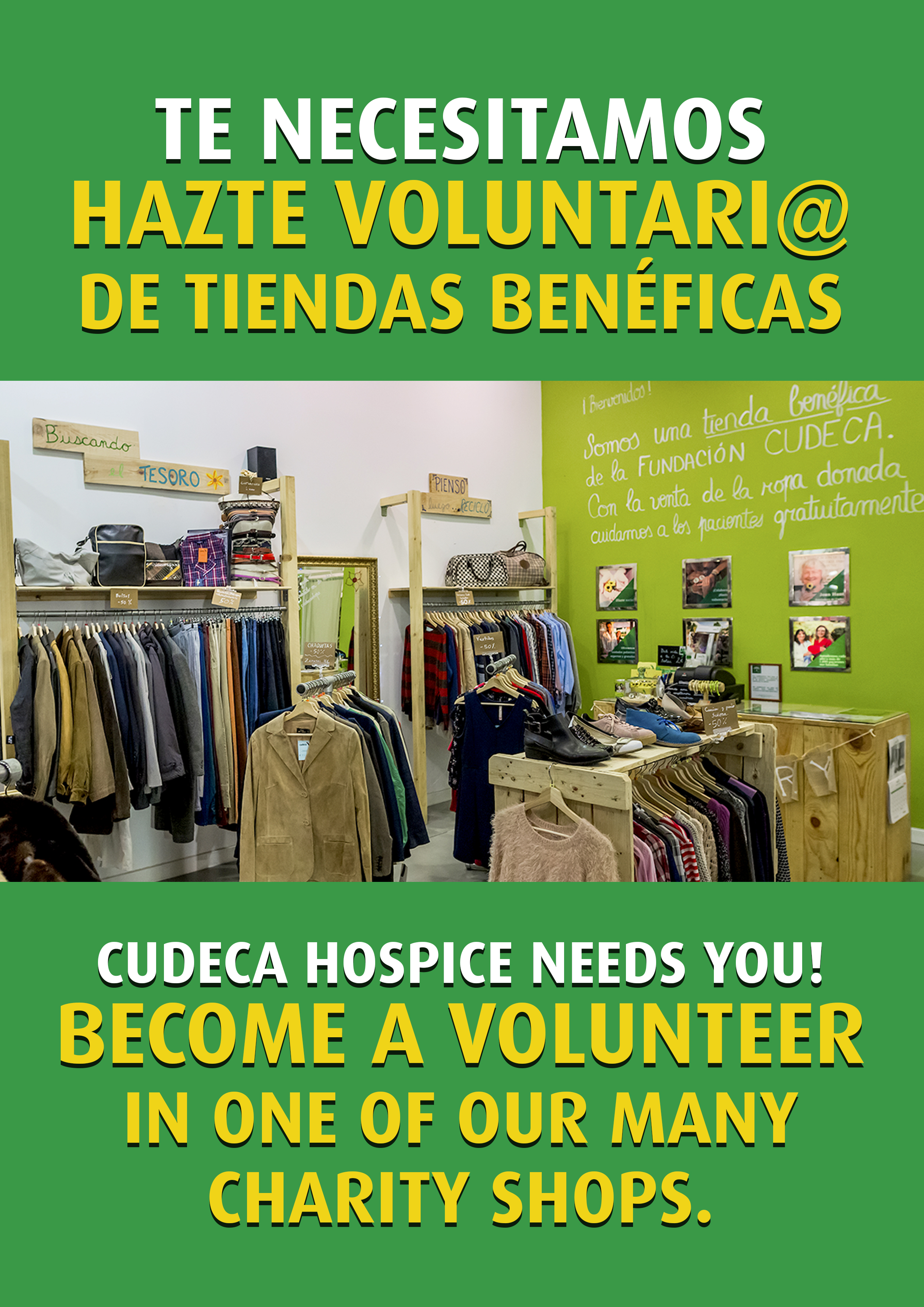 Our charity shops need volunteers