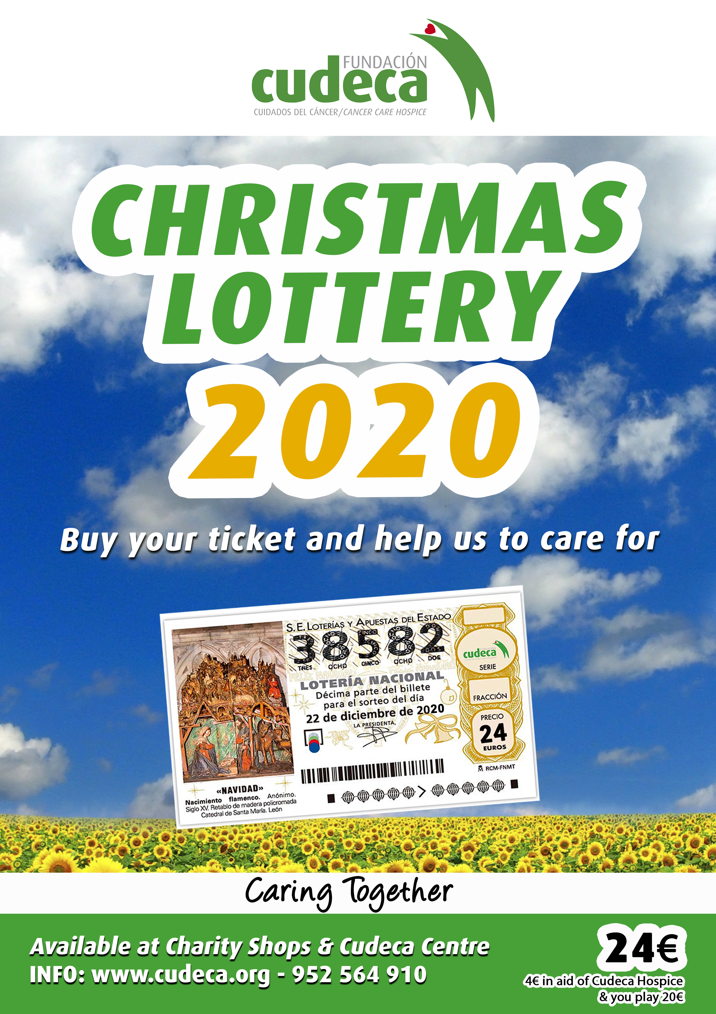 El Gordo Christmas Lottery is now  at Cudeca Charity Shops!