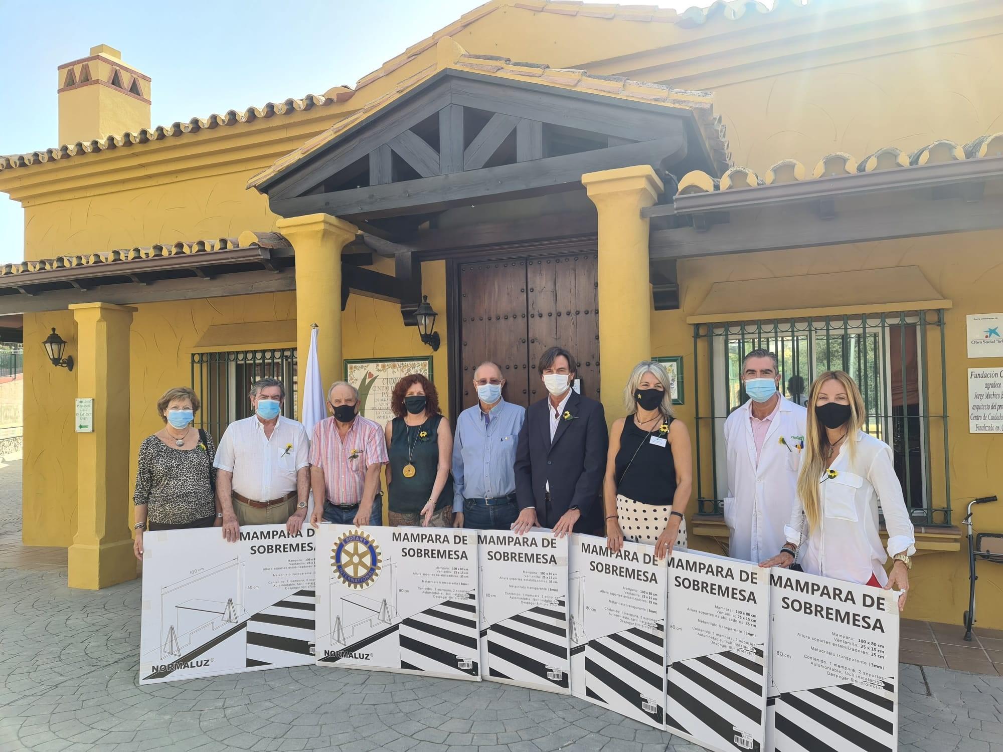 Donation from Rotary Club from Benalmádena-Torremolinos
