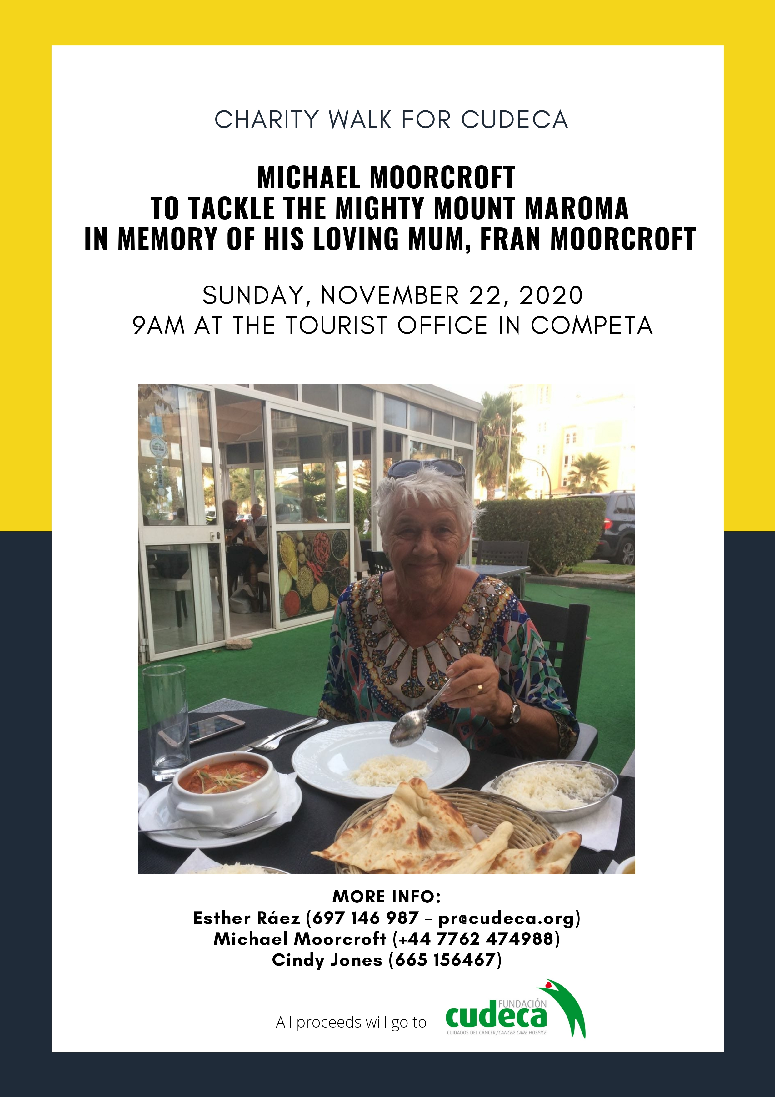Novice walker to tackle the mighty Mount Maroma  in memory of his loving mum Fran Moorcroft