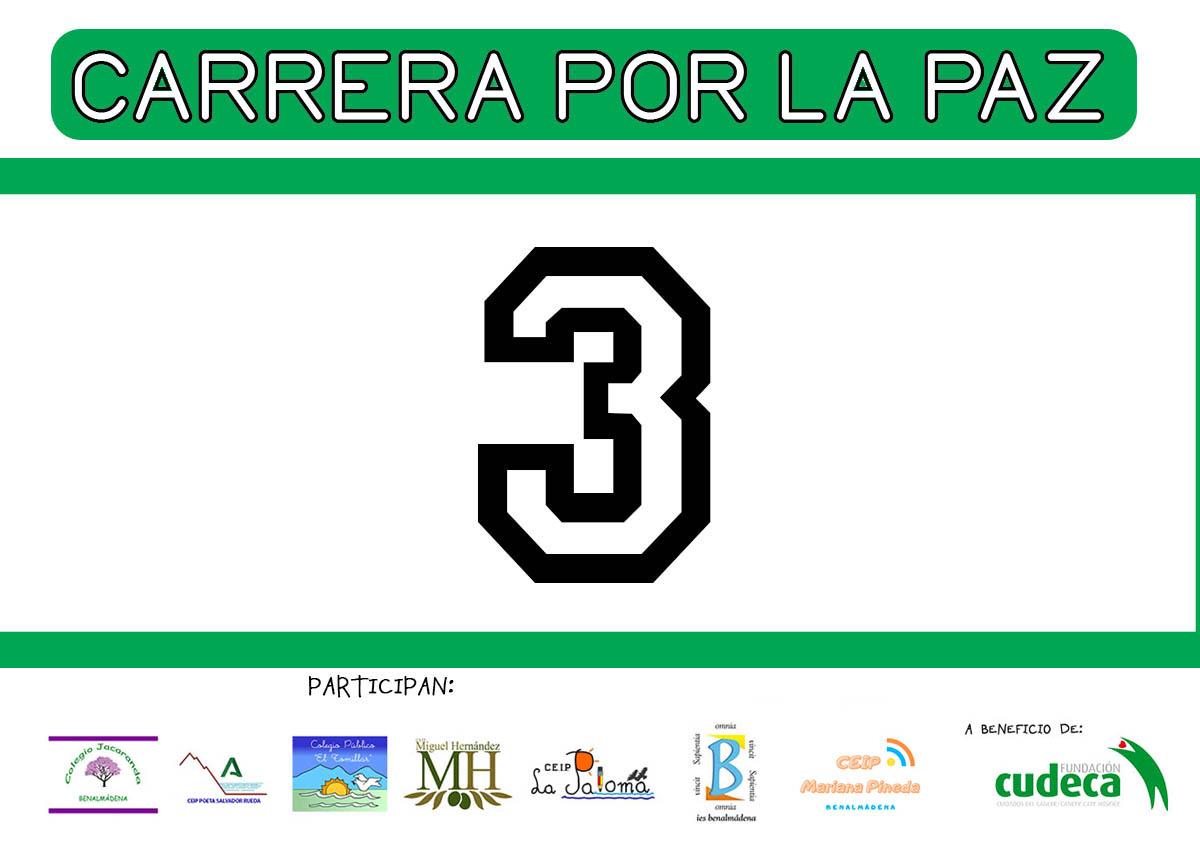 7 colegios de Benalmádena corren por la paz en apoyo a la campaña Efecto Girasol de Cudeca