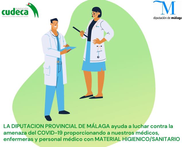 Material higiénico sanitario de la Diputación Provincial de Málaga