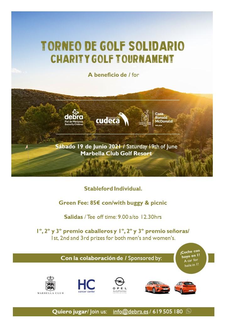 Torneos Golf Solidarios CUDECA-Debra-McDonald