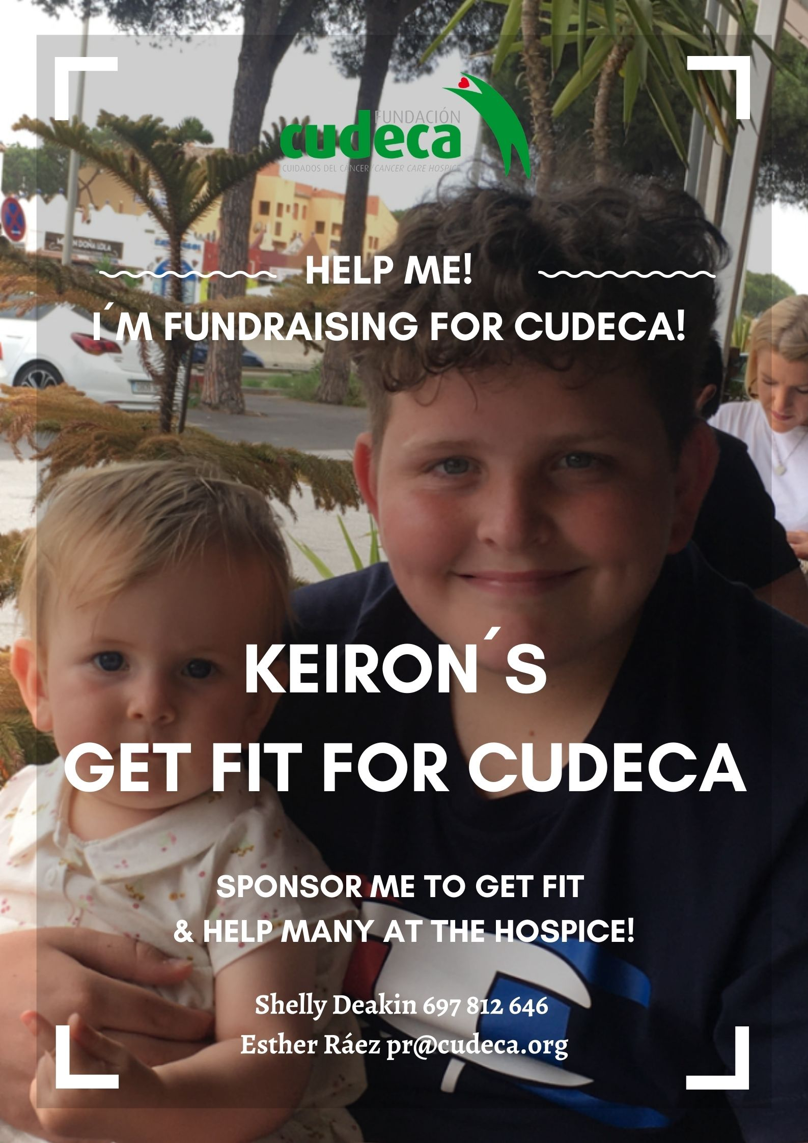 Keiron´s, a 13 years old boy, organizes his own charity event  Get Fit for Cudeca!