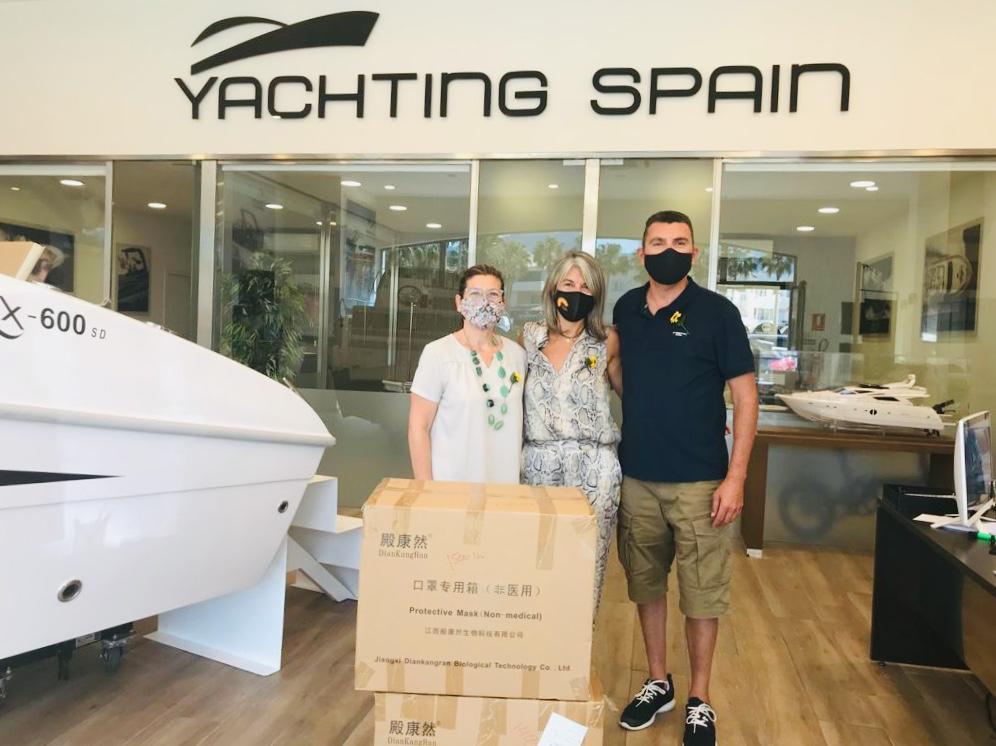 Donación de 2.900 mascarillas por Yachting Spain