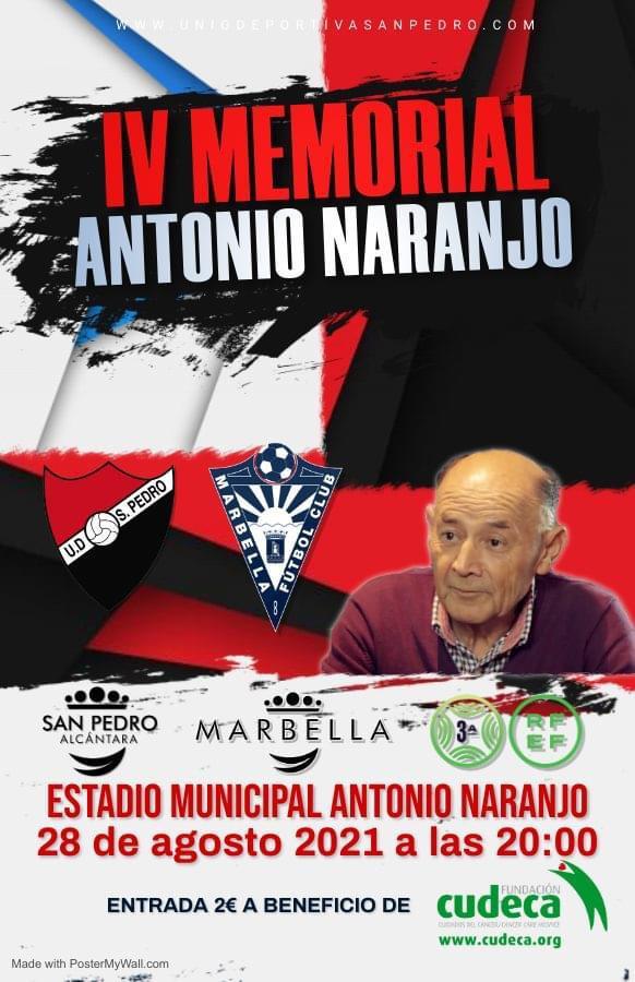 El IV Memorial Antonio Naranjo se celebrará el 28 de agosto