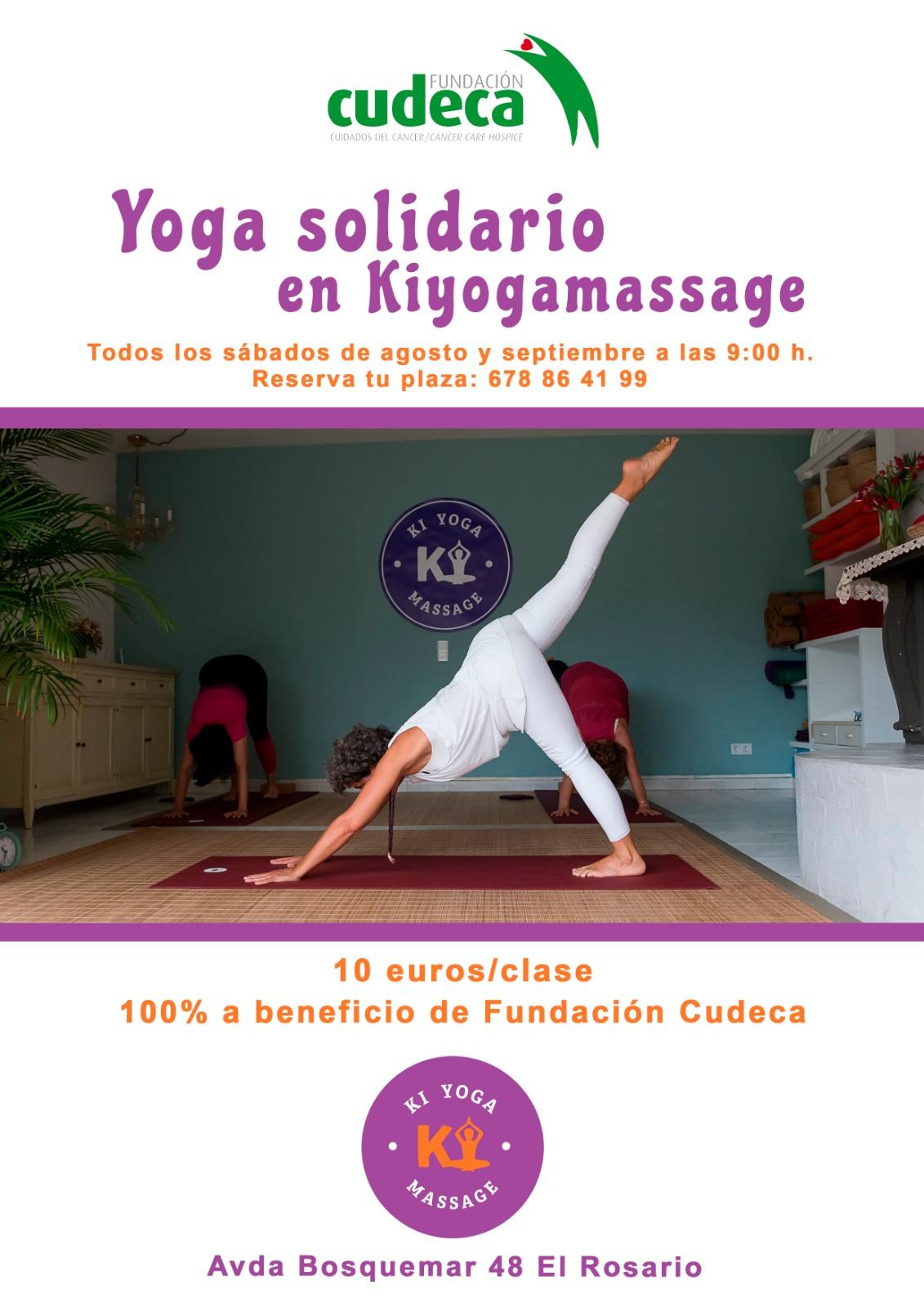 Todos los sábados de agosto y septiembre  ¡nos vemos en el Yoga Solidario de Kiyogamassage!